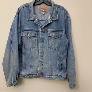 Buffalo Jeanswear Denim Trucker Boyfriend Jacket, Men's Large, Vintage 1990's